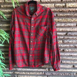 Woolrich Vintage Red Tartan Plaid Flannel Shirt
